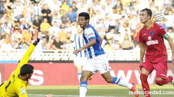 Gol de Vela al Getafe en la primera jornada de Liga.